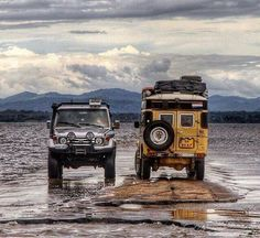 old & new Toyota Land Cruisers