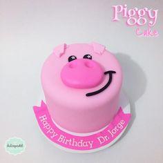 Torta Cerdito Medellín - Piggy cake Medellin by Giovanna Carrillo