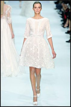 A beautiful, but unconventional, short wedding dress! -- Elie Saab Bridal Collection