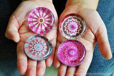 #glassmagnets #pink