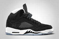 """This design plays on the classic Jordan 5's, but in an """"Oreo"""" aesthetic. In that its black on the outside and white on the inside and resembles an oreo, kind of."""