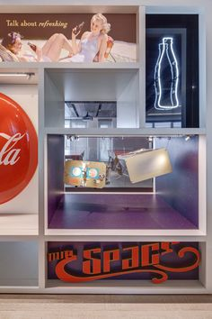 Coca-Cola's new London headquarters is decorated with vintage memorabilia.