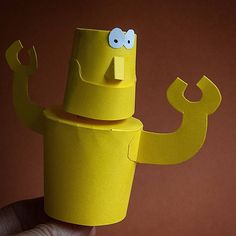Contra-rotating Robot. Body & head. #papertoy #paperengineering #automata #prototype