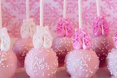Organic Ballerina Themed Cake Pops