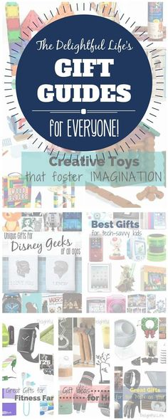 It can be exhausting finding just the right gift for everyone on your list! We've spent the last couple of years carefully curating gifts for lots of your friends and family.  We have the following gift guides though, and are always adding more:  Unique Gifts for the Disney Loving Mama Best Gifts for Tech Savvy Kids Great Gifts for Fitness Fans Awesome Gifts for the Men on your List Gifts for Her Creative Gifts and Toys that Foster Imagination Unique Gifts for Disney Geeks of All Ages