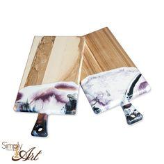 Schneidebrett mit Resin veredelt. Jedes Stück ein Unikat und jetzt im Shop erhältlich Wood Art, New Art, Resin, Diy, Boards, Creative Ideas, Gifts, Wooden Art, Bricolage