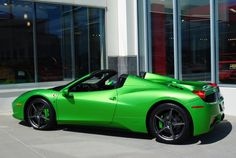 Green Ferrari 458 Spider - http://jx83395757.com/green-ferrari-458-spider-3/