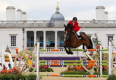 Alberto Michan Halbinger of Mexico riding Rosalia la Silla competes in the Individual Jumping Equestrian on Day 12 of the London 2012 Olympic Games at Greenwich Park on August 8, 2012 in London, England. (Photo by Alex Livesey/Getty Images)