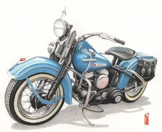 DeviantArt is the world's largest online social community for artists and art enthusiasts, allowing people to connect through the creation and sharing of art. Harley Davidson Engines, Harley Davidson Art, Harley Davidson Motorcycles, Motos Vintage, Vintage Motorcycles, Motorcycle Art, Bike Art, Classic Motorcycle, Mexico Art
