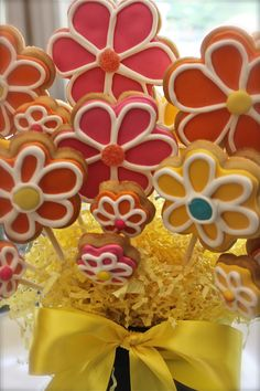 Spring Sugar Cookie Flower display