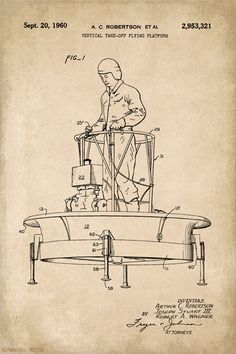 Flying Platform Patent Art Poster