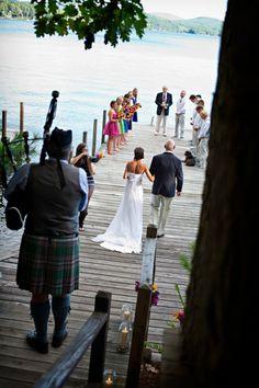 Lakeside Rustic Wedding On A Dock