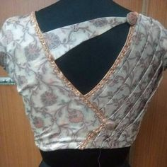 Blouse Back Inspiration by Designer Blouse Ideas . Tag your picture with… Blouse Back Inspiration by Designer Blouse Ideas . Tag your picture with… Blouse Back Inspiration by Designer Blouse Ideas . Tag your picture with… Blouse Back Inspiration by Saree Jacket Designs, Simple Blouse Designs, Saree Blouse Neck Designs, Stylish Blouse Design, Pattern Blouses For Sarees, Chiffon Blouses, White Blouses, Saree Blouse Patterns, Lehenga Blouse