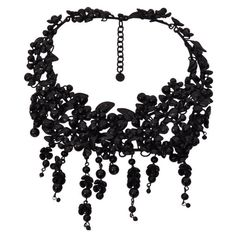 Pre-owned Tom Ford Black Pate De Verre Necklace (31.435 VEF) ❤ liked on Polyvore featuring jewelry, necklaces, accessories, multi-strand necklaces, black jewelry, tom ford, layered chain necklace, black multi strand necklace and womens jewellery