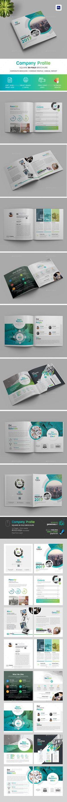 Company Profile Square Bi-Fold Brochure