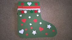 Christmas stocking card (matches child's own stocking)