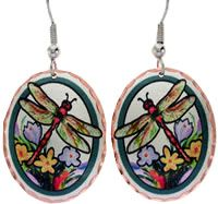 Dragonfly Jewelry designs in brilliant colors, see all our new colorful handcrafted earrings!