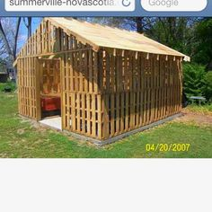 Shed made from pallets!