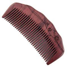 "Evolatree - Elegant Natural Handcrafted Comb - Fine Tooth - Purpleheart Wood - 4.75"""