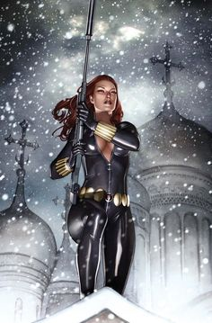 """Black Widow (Natasha Romanoff) is a fictional character, a super heroine in the Marvel Comics universe. Created by Stan Lee, Don Rico, and Don Heck, she first appeared in Tales of Suspense No. 52 in 1964. Born in Stalingrad (now Volgograd), Natasha was raised by Ivan Petrovich. Black Widow placed 31st in Comics Buyer's Guide's """"100 Sexiest Women in Comics"""" list."""