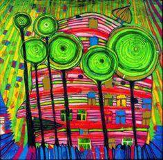 Tropical Garden  :  Friedensreich Hundertwasser  :  Art Print #Abstract