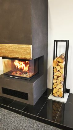 Home Fireplace, Fireplace Remodel, Modern Fireplace, Fireplace Design, Fireplace Mantels, Small House Interior Design, Home Room Design, Living Room Designs, Room Decor Bedroom