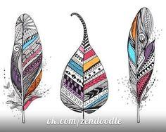 Популярный мотив пера в Дудл Арт: более 30 идей рисования и творческой реализации - Zentangle & Doodling — уникальные направления в современном искусстве
