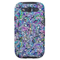 Pastel Colors Abstract Swirls Seamless Pattern Galaxy SIII Covers