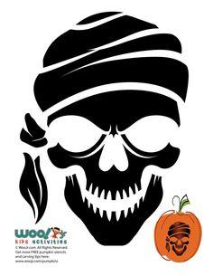 Pirate Skeleton Pumpkin Template | Woo! Jr. Kids Activities Skeleton Pumpkin, Pirate Pumpkin, Pumpkin Template, Pumpkin Carving Templates, Pirate Kids, Holidays Halloween, Halloween Parties, Halloween Decorations, Pirate Skeleton