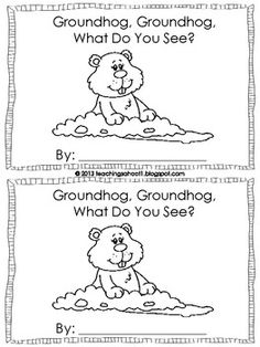 Groundhog Day activities: FREE Groundhog Day mini emergent reader booklet.