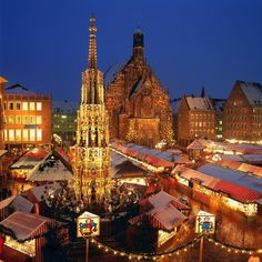 Nuremberg's Christmas Market, the largest Christmas Market in Germany and one of the famous in the world.