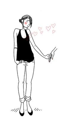Margaux Motin > I can't give you anything but love. Art And Illustration, Illustration Mignonne, Art Beat, Cartoon Drawings, Fashion Sketches, Cute Art, Character Design, Giraffe, Girly