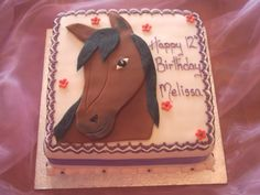 horse cakes for girls birthday | Click to return to Gallery