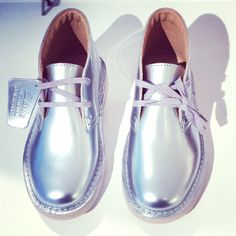 Amazing kids silver Desert boot, one of the updated classic styles by Clarks shoes for spring/summer 2015