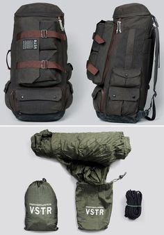 werd.com | Men's Gear, Gadgets, Style For Guys | Gift Guide For Men - Part 76...Kelly Slater teamed up with Quiksilver to make this awesome VSTR travel pack..it has a built in hammock as well!