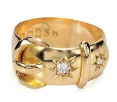 Edwardian Vintage Diamond Buckle Ring.... Yes Please I would like one in my size :)