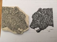 Oso #carvado #carvadodesellos #stamp #stampbooking #manualidad #rubber #rubberstamp