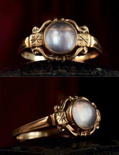 1910s Moonstone Ring, 14K Gold