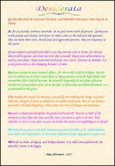 11 Best Desiderata Images Desiderata Wise Words