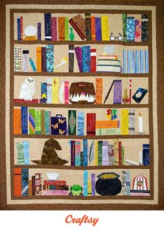 Even if you're a muggle, this free quilting pattern will help you create a fantastic quilt for a Potter-enthusiast you love.