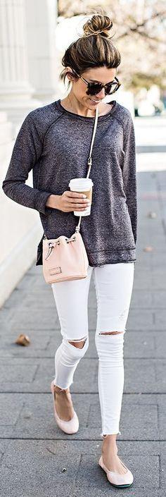White and Grey with Pink Tieks.