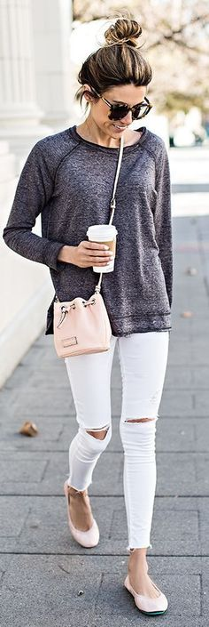 White and Grey with Pink Tieks.