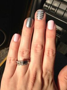 I got this idea off Pinterest and made it easy with Jamberry Nails.. The sheets I used were cotton candy, Diamond dust sparkle and Gray and Silver horizontal pinstripe and I got a 4th sheet free. Cant beat that!!!