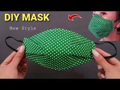 Easy Face Masks, Homemade Face Masks, Diy Face Mask, Small Sewing Projects, Sewing Hacks, Sewing Tutorials, Diy Mask, Fashion Face Mask, Sewing Techniques