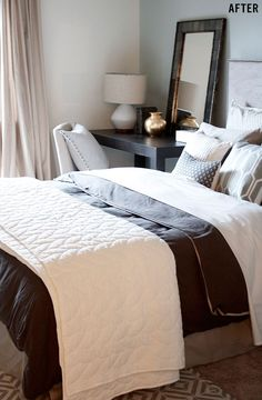 Bed & Headboard - 4 Interior Design Hacks To Transform Your Apartment FAST