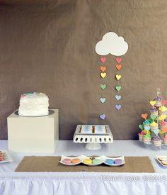 "Photo 1 of 19: rainbow, colors / Birthday ""Rainbow LOVE"" | Catch My Party"