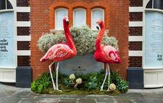 kate spade Flower Flamingo sculptures