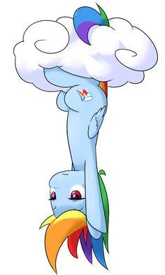 Miss Rainbow Dash Mlp, Fluttershy, Rainbow Dash, Cute Ponies, Akatsuki, My Little Pony, Smurfs, Clouds, Fan Art