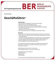 Endlich - kommt das Projekt mit dem  #Flughafen #Berlin voran ...