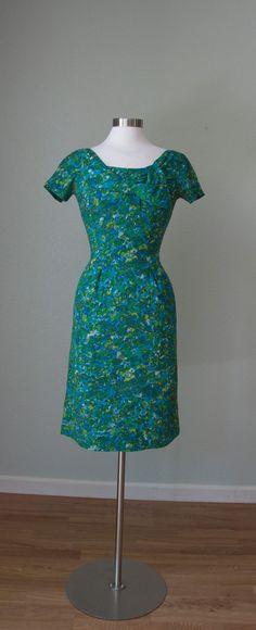 3871a0e74a84 1950s I Magnin Label Feminine and Flirty by KittyGirlVintage Summer Day  Dresses, Vintage Summer Dresses